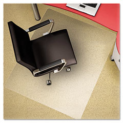 Polycarbonate Chair Mat, 45w x 53l, Clear