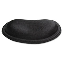 Kelly Computer Supply Palm Rest, Memory Foam, Non-Skid Base, 6 x 3-1/4 x 3/4, Black