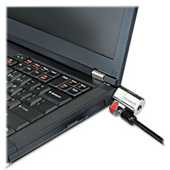 Kensington® ClickSafe Keyed Laptop Lock, 5ft Cable, Black