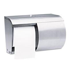 Kimberly-Clark Professional* Stainless Steel Coreless Double Roll Bath Tissue Dispenser Thumbnail