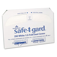 Georgia Pacific® Professional Half-Fold Toilet Seat Covers, White, 250/Pack, 20 Boxes/Carton