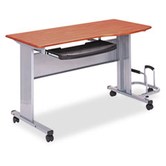 Eastwinds Mobile Work Table, 57w x 23-1/2d x 29h, Medium Cherry