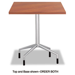 "Safco® RSVP Series Standard Fixed Height Table Base, 28"" dia. x 29h, Silver"