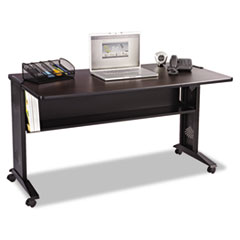 Safco® Mobile Computer Desk with Reversible Top Thumbnail