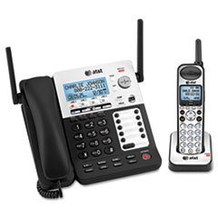 AT&T® SB67138 DECT 6.0 Phone/Answering System, 4 Line, 1 Corded/1 Cordless Handset