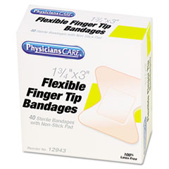 PhysiciansCare® by First Aid Only® First Aid Fingertip Bandages, 40/Box