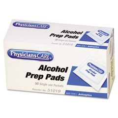 First Aid Alcohol Pads, 50/Box