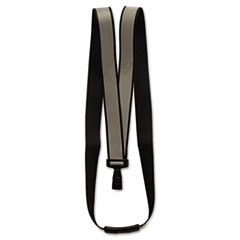"Advantus Recycled Breakaway Lanyard, J-Hook Style, 36"" Long, Black, 10/Box"