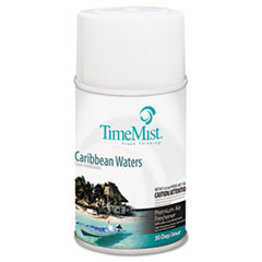 TimeMist® Premium Metered Air Freshener Refill, Caribbean Waters, 6.6 oz Aerosol, 12/Carton