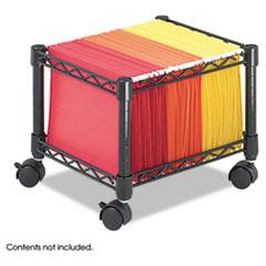 Safco® Mini Mobile Wire File Cart, Steel Wire, 15-1/2w x 14d x 12-1/2h, Black