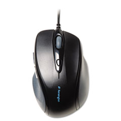 Kensington® Pro Fit Wired Full-Size Mouse, USB, Right, Black