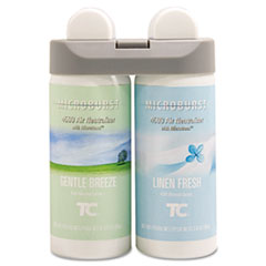 Rubbermaid® Commercial Microburst Duet Refills, Gentle Breeze/Linen Fresh, 3 oz, 4/Carton