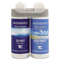 Rubbermaid® Commercial Microburst Duet Refills, Sea Mist/Ocean Breeze, 3 oz, 4/Carton