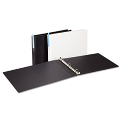 Universal® Legal-Size Round Ring Binder with Label Holder