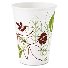 Dixie® Pathways Paper Hot Cups, 12oz, 25/Bag, 20 Bags/Carton