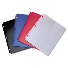 Snapper Twin Pocket Poly Folder, 8-1/2 x 11, Assorted Colors