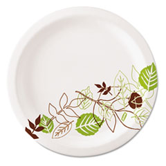 "Dixie® Pathways Soak-Proof Shield Mediumweight Paper Plates, 6 7/8"", 8 Pks/125,1000/Ct"