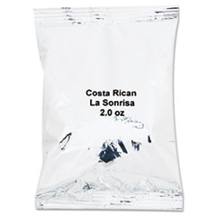 Distant Lands Coffee Coffee Portion Packs, Costa Rican La Sonrisa, 2oz Packets, 40/Carton
