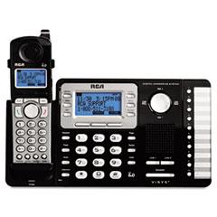 RCA® ViSYS Cordless Expandable Phone/Ans System, 2 Lines, 1 Handset