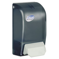 "Dial® Professional 1 Liter Manual Foaming Dispenser, 1000 mL, 5"" x 4.5"" x 9"", Smoke"