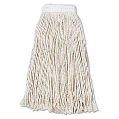Boardwalk® Cut-End Wet Mop Head, Cotton, No. 16, White, 12/Carton BWK2016CCT