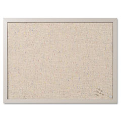 MasterVision® Designer Fabric Bulletin Board, 24X18, Gray Fabric/Gray Frame