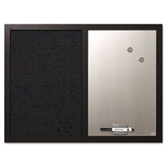 MasterVision® Combo Bulletin Board, Bulletin/Dry Erase, 24X18, Black Frame