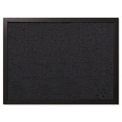 MasterVision® Designer Fabric Bulletin Board, 24 x 18, Black Fabric/Black Frame