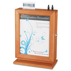 Customizable Wood Suggestion Box, 10 1/2 x 5 3/4 x 14 1/2, Cherry