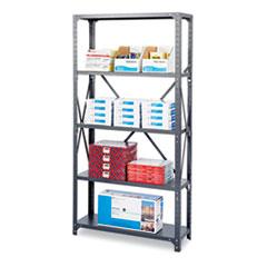Commercial Steel Shelving Unit, Five-Shelf, 36w x 12d x 75h, Dark Gray