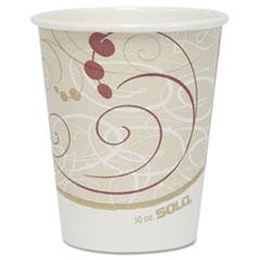 Dart® Hot Cups, Symphony Design, 10oz, 50/Pack