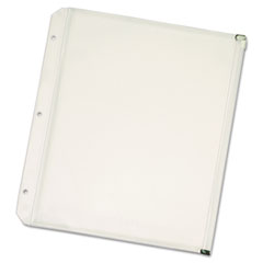 Cardinal® Zippered Binder Pockets, 11 x 8 1/2, Clear, 3/Pack