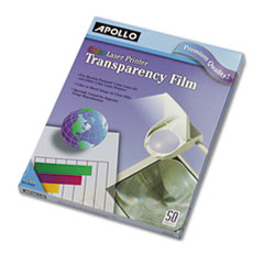 Image of Color Laser Transparency Film, Letter, Clear, 50/Box Office Supplies APOCG7070 Apollo