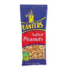 Planters® Salted Peanuts, 1.75 oz, 12/Box