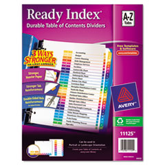 Avery® Ready Index Customizable Table of Contents Multicolor Dividers, 26-Tab, Letter