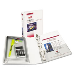 """Avery® Mini Size Protect and Store View Binder with Round Rings, 3 Rings, 1"""" Capacity, 8.5 x 5.5, White"""