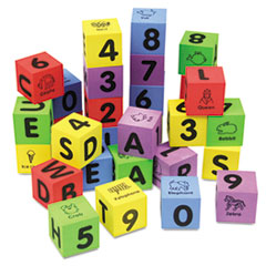 WonderFoam Learning Blocks, Assorted, 30 Blocks