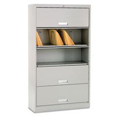 HON® Brigade® 600 Series Five-Shelf File with Receding Doors