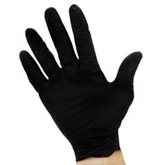 Impact® ProGuard Disposable Nitrile Gloves, Powder-Free, Black, Large, 100/Box