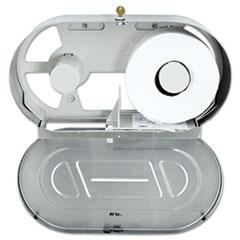 Bobrick Toilet Tissue 2 Roll Dispenser, Satin-Finish Stainless Steel, Jumbo, 20.81 x 5.31 x 11.38