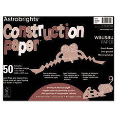 Astrobrights® Construction Paper, 72lb, 12 x 18, Grizzly Brown, 50 Sheets