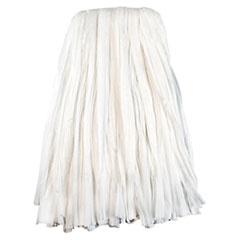 Boardwalk® Nonwoven Cut End Edge Mop, Rayon/Polyester, #24, White, 12/Carton BWKBW2024