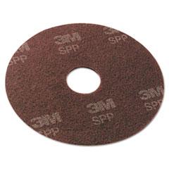 "Scotch-Brite™ Surface Preparation Pad, 19"" Diameter, Maroon, 10/Carton"
