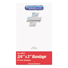 "PhysiciansCare® by First Aid Only® XPRESS First Aid Kit Refill, Bandages, 3/4"" x 3"" Plastic, 50/Box"