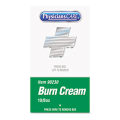 PhysiciansCare® by First Aid Only® XPRESS First Aid Kit Refill, Burn Cream, 10/box