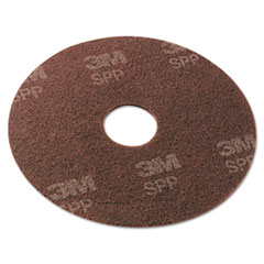 "Scotch-Brite™ Surface Preparation Pad, 13"" Diameter, Maroon, 10/Carton"