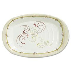 "Dart® Symphony Paper Dinnerware, Heavyweight Platter, 6 1/2 "" x 10"", Tan, 125/Pack"