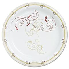 """Dart® Symphony Paper Dinnerware, Heavyweight Plate, 9"""" dia, Tan, 125/Pack"""