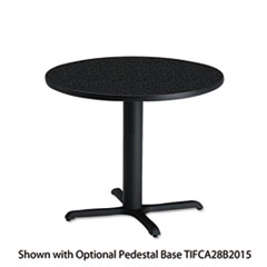 "Bistro Series 30"" Round Laminate Table Top, Charcoal Anthracite"
