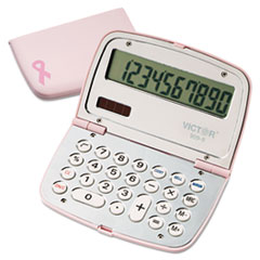 Victor® 909-9 Limited Edition Pink Compact Calculator, 10-Digit LCD